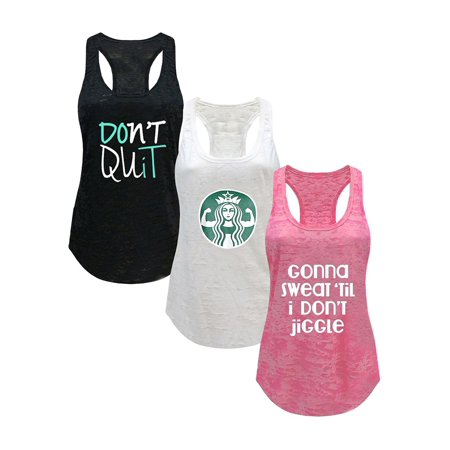 Tough Cookie's Women's Gym Athletic Workout Tank Tops 3 Pack Deal #2](Top Deals)