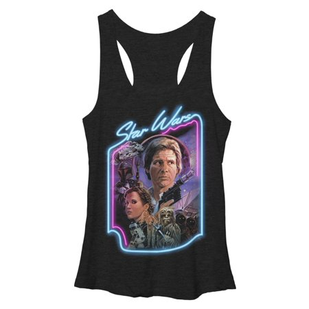Star Wars Women's Han Solo and Princess Leia Racerback Tank Top](Leia And Han)
