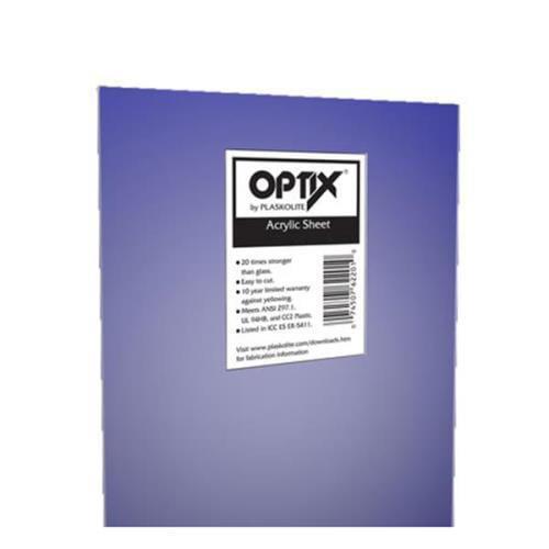"Optix by Plaskolite 100 Clear Acrylic Sheet 28"""
