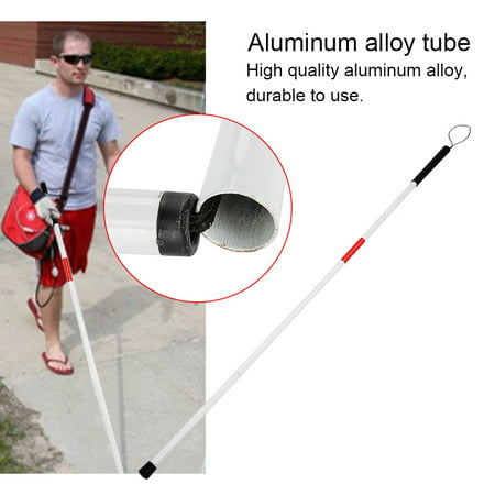 Yosoo Foldable Reflective Cane Crutch Portable Anti Shock