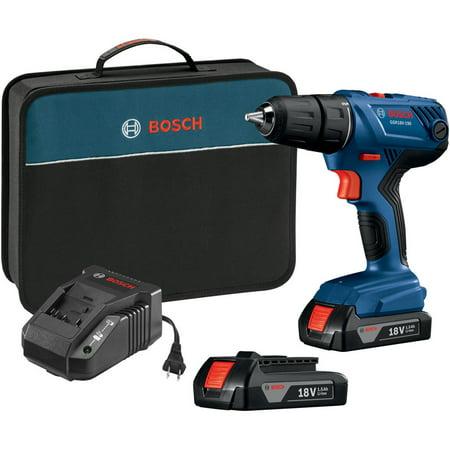 BOSCH GSR18V-190B22 Cordless Drill/Driver,18V,1/2u0022,Battery Included