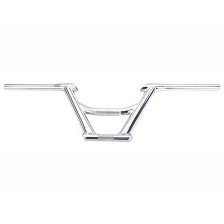 - 169 Free Style Handlebar 22.2mm Chrome. Bike handle bar, bicycle handle bar, handlebar, bmx handle bar, track, fixie