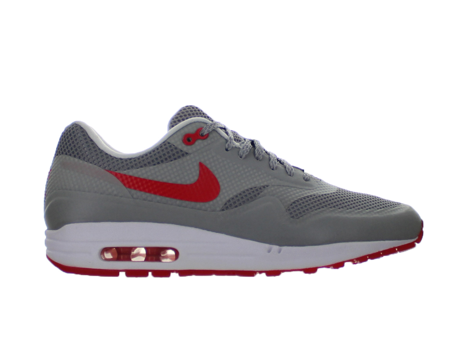 Womens Nike Air Max 1 Fuse Matte Silver Hyper Red White 580783-001
