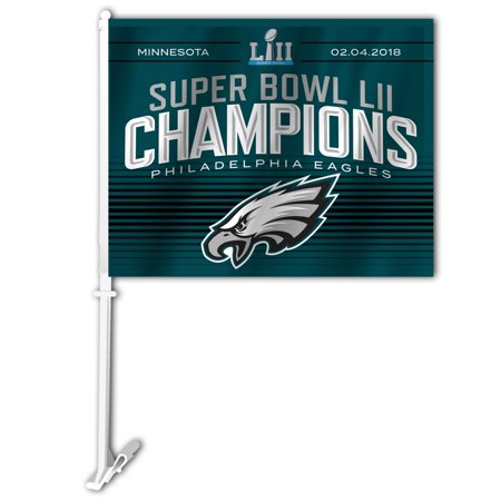 NFL Philadelphia Eagles Super Bowl LII Champion Car Flag