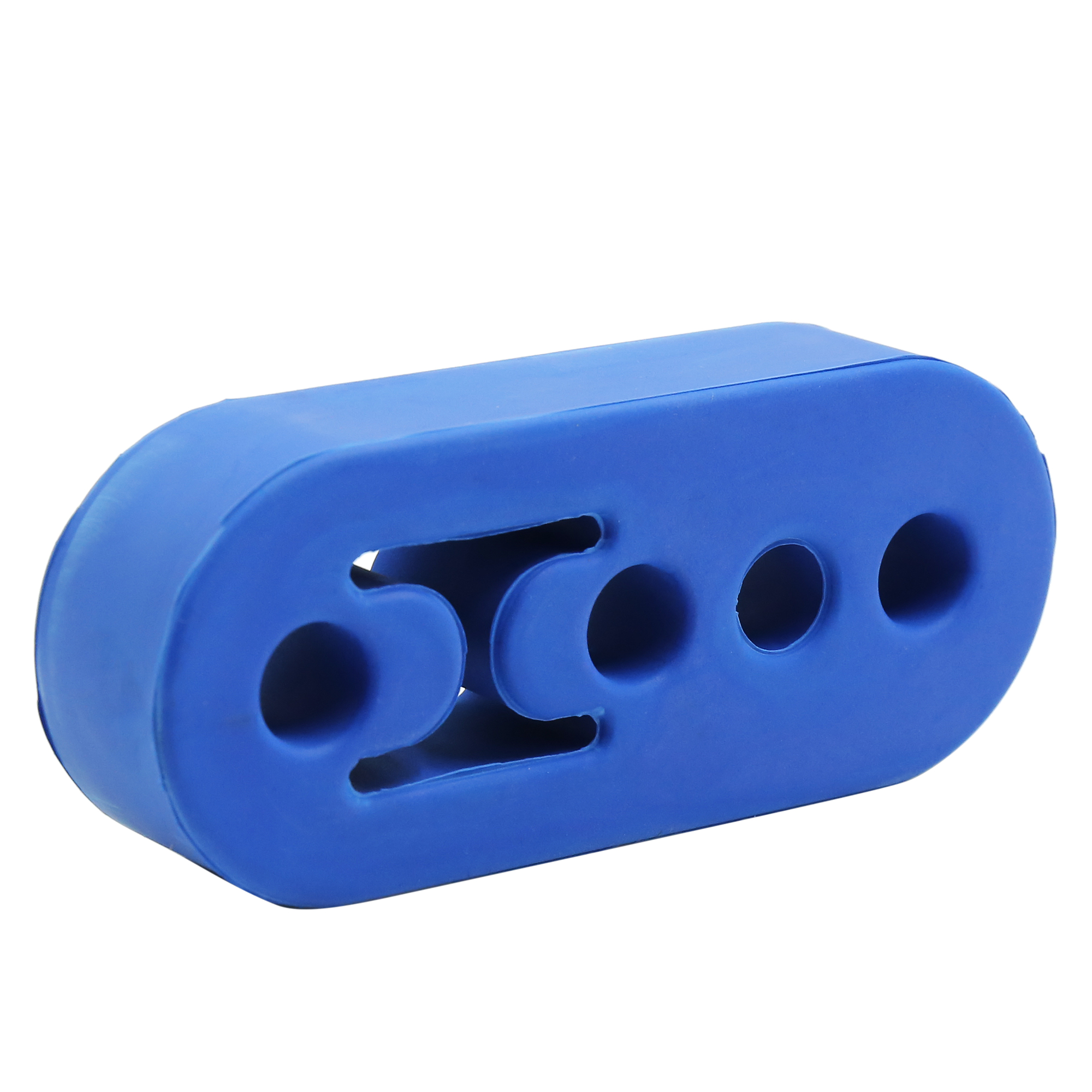 3pcs 4 Holes Blue Rubber Car Tail Pipe Brackets Exhaust Mounting Hanger - image 1 de 4