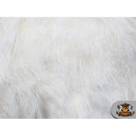 Fur Bustier (Faux Fake Fur Mongolian Fabric Sold by the Yard (WHITE) )
