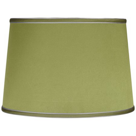 Brentwood Sydnee Satin Olive Green Drum Lamp Shade 14x16x11 (Spider) (Light Green Shade)