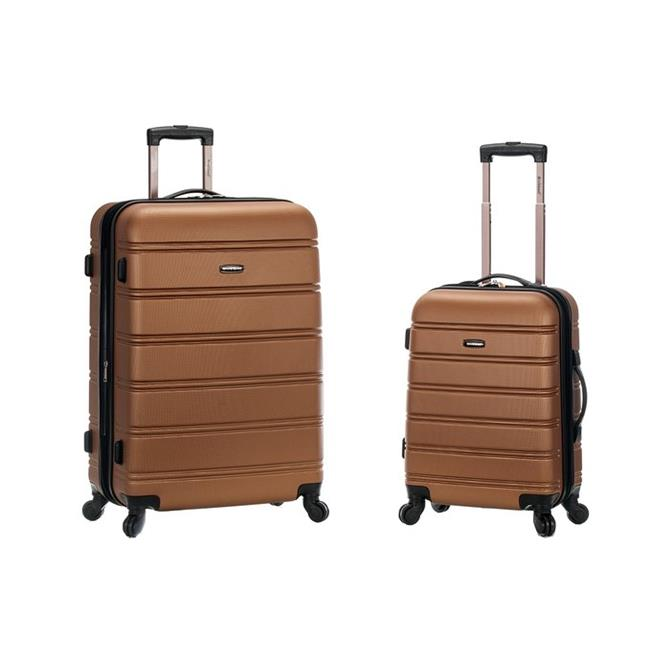 Foxluggage F225-BROWN Expandable Abs Spinner Set, 2 Pieces