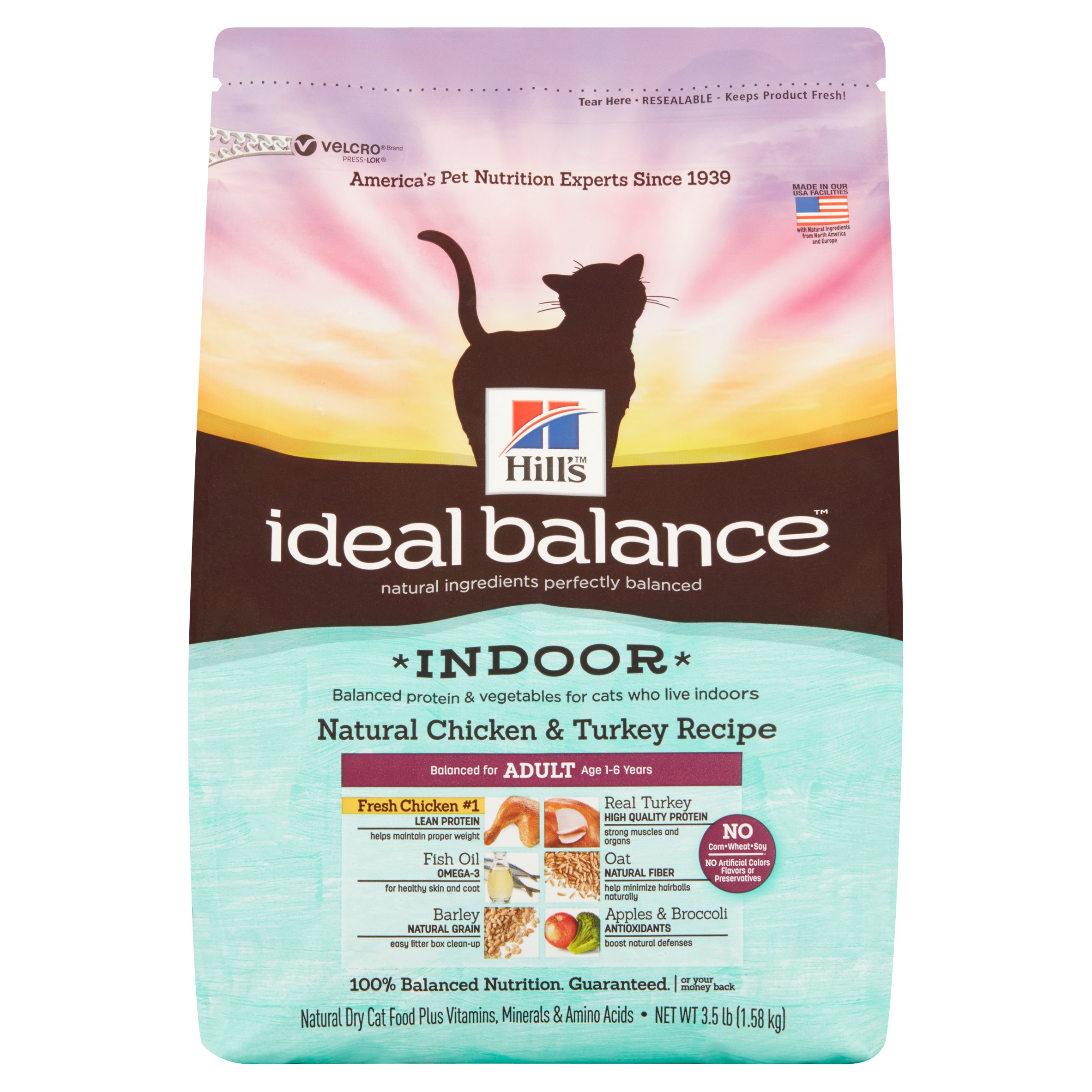 Hills Ideal Balance Indoor Natural Chicken Turkey Dry Cat Food