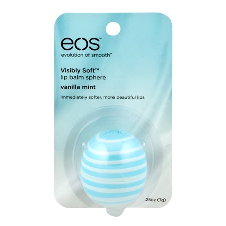 Eos Evolution Of Smooth Visibly Soft Lip Balm Sphere  Vanilla Mint  0 25 Oz  2 Pack