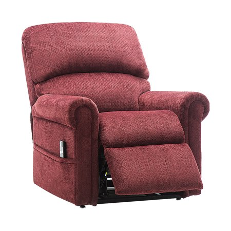 Power Lift Recliner Chair - Heavy Duty and Safety Motion Reclining Mechanism-Antiskid Fabric Sofa Living Room Chair with Overstuffed Design ()