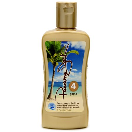 Panama Jack Sunscreen Tanning Lotion - SPF 4, Reef-Friendly, PABA, Paraben, Gluten & Cruelty Free, Antioxidant Moisturizing Formula, Water Resistant (80 Minutes), 6 FL OZ (Pack of