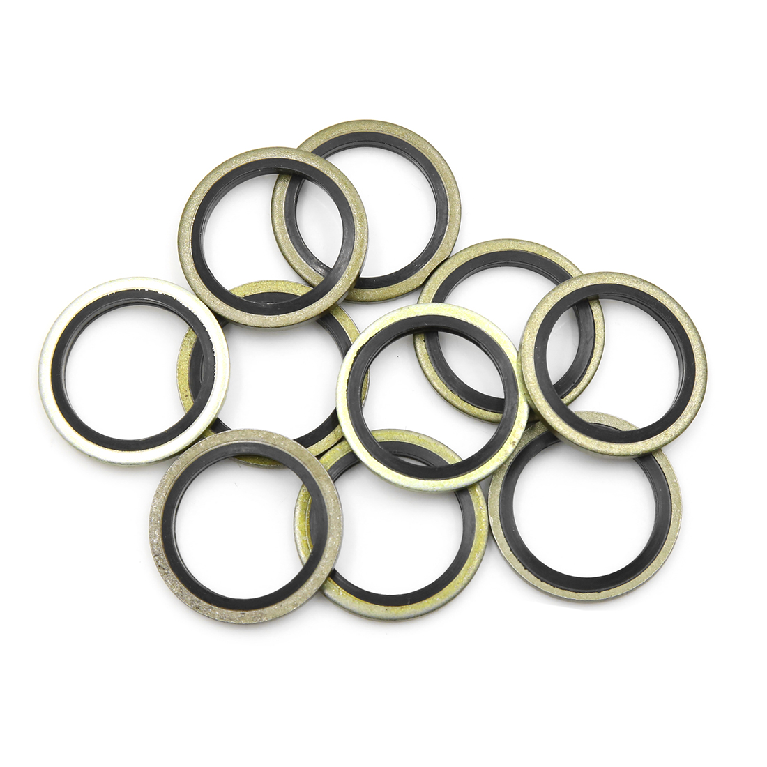 10pcs Engine Oil Crush Washers Drain Plug Gaskets 20mm ID. 28mm OD. for Car - image 2 of 2