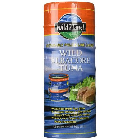Wild Planet Albacore Wild Tuna Steak Pole & Line Caught 5 OZ Each 6 Cans (2