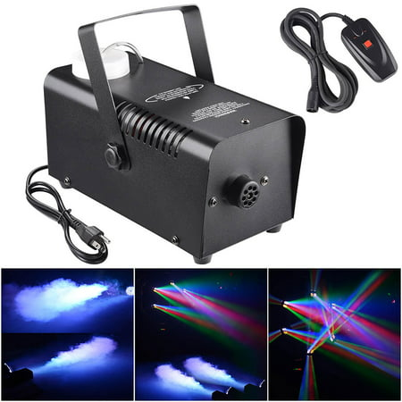 400W Smoke Effect Machine Stage Fogger Equipment Wired Control Disco Party (Fog Machines)