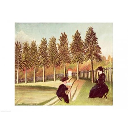 The Artist Painting his Wife Canvas Art - Henri Rousseau (24 x (Henri Rousseau Canvas Painting)