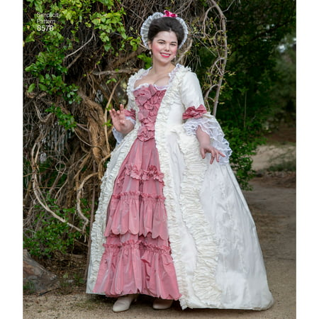 Civil War Ball Gown Pattern - Simplicity Misses' Size 14-22 18th Century Gown Pattern, 1 Each