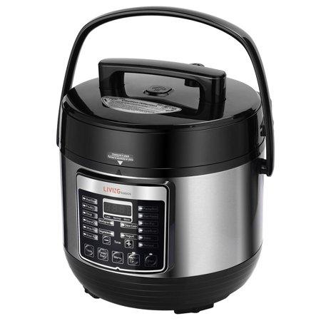 Livingbasics 16 In 1 Multi Use Programmable Electric Pressure Cooker 5 Quart Smart Pot Rice Cooker Egg Cooker Yogurt Maker Cake Maker Steamer