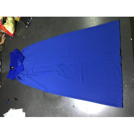 Off Shoulder Maternity Solid Color Chiffon Maxi Dress Causal Pregancy Dress - image 2 of 2