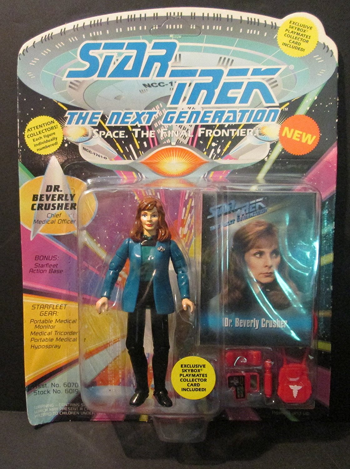 The Next Generation Dr. Beverly Crusher With Special Space Caps Included With Starfleet Gear From Playmates... by