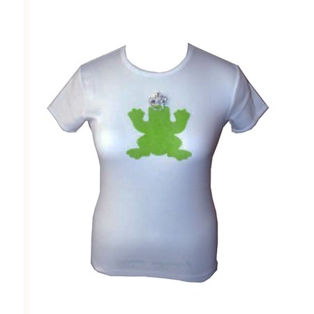 My Flat in London White Short Sleeve Green Crowned Prince with Rhinestone T-Shirt -