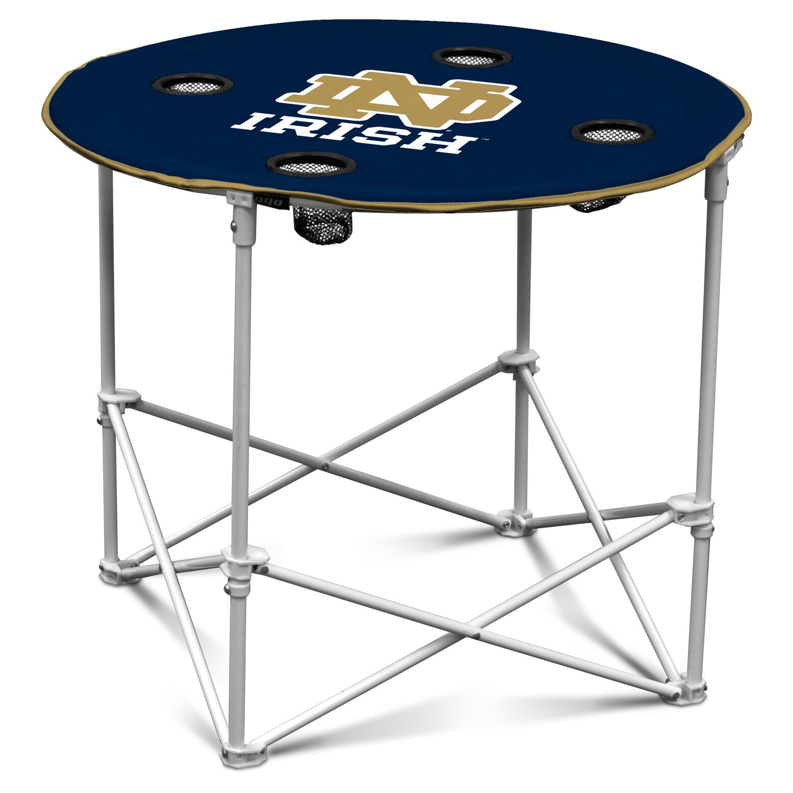 Logo Chair NCAA College Team Logo Portable Round Tailgating Table by Generic