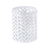 Staples White Zigzag Pencil Cup (26847) 1116757