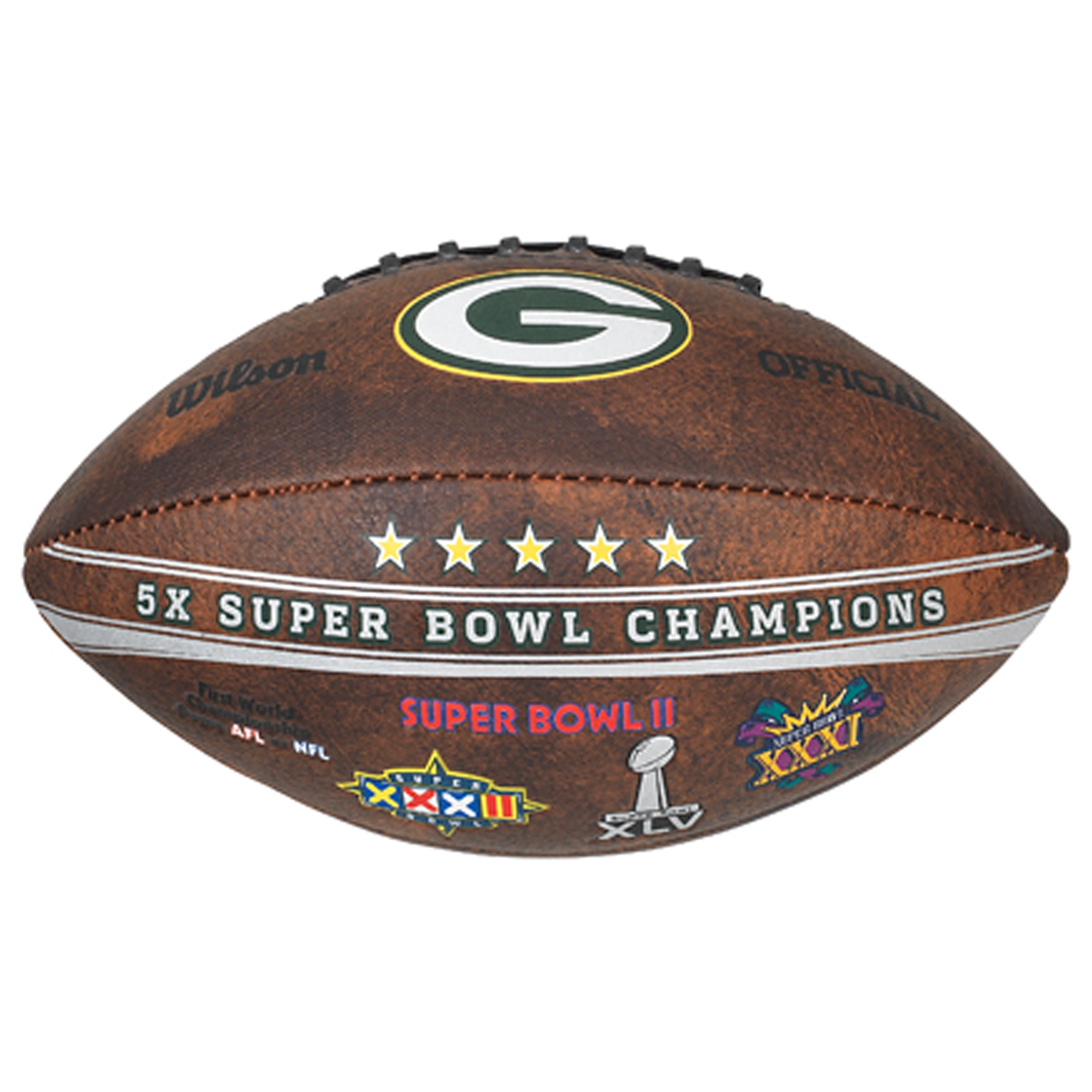 Wilson Green Bay Packers 9-inch Leather Football by Overstock