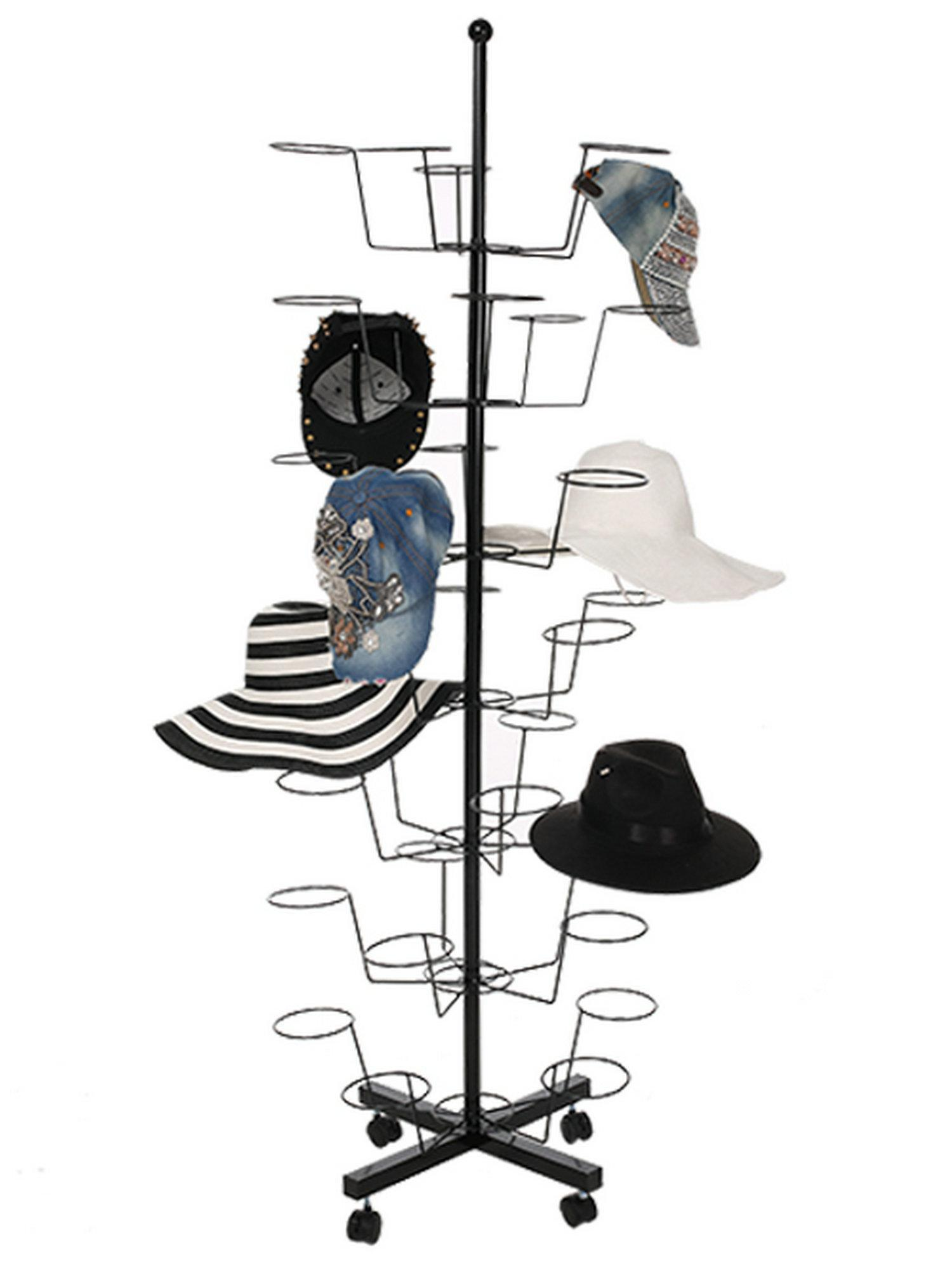 35 Pieces 7 Tiers Hat Display Stand Rack Stand Rotating Metal MAEHE by
