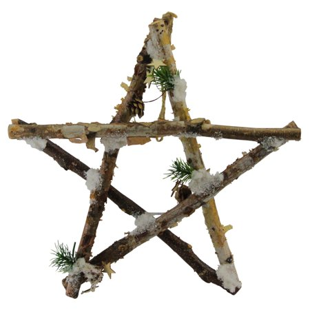 - Northlight Rustic Snowy Wooden Branch Star Shaped Christmas Ornament