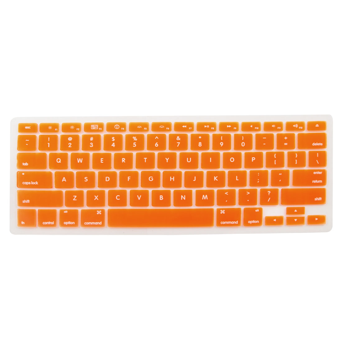 Unique Bargains Orange Soft Silicone Keyboard Protective Film Cover for Apple Macbook Pro