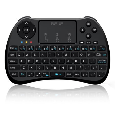 REIIE H9S Wireless Mini Handheld Remote Keyboard with Touchpad Work  for PC,Raspberry Pi 2,3,  Android TV Box ,XBMC,Windows 7 8 (Handheld Touchpad)
