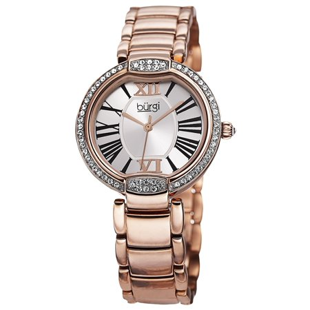 Women's Quartz Swarovski Crystal Stainless Steel Bracelet Watch with FREE - 57w Quartz Sleeve