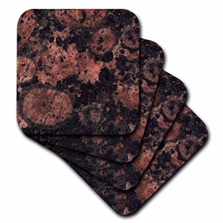 (3dRose Baltic brown granite print, Ceramic Tile Coasters, set of 4)