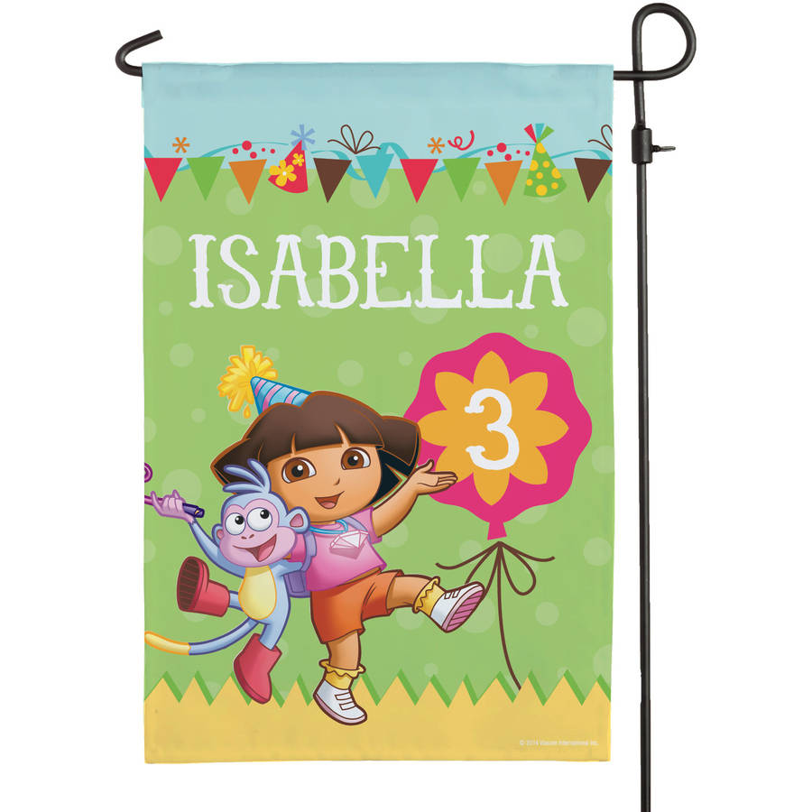 Personalized Dora The Explorer Birthday Flag