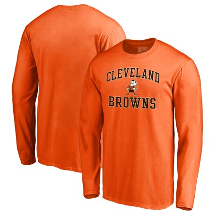- Cleveland Browns NFL Pro Line by Fanatics Branded Vintage Collection Victory Arch Big & Tall Long Sleeve T-Shirt - Orange
