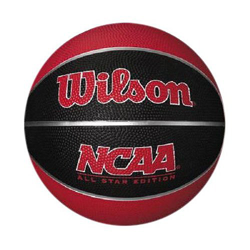 Wilson NCAA Mini Rubber Red and Black Basketball