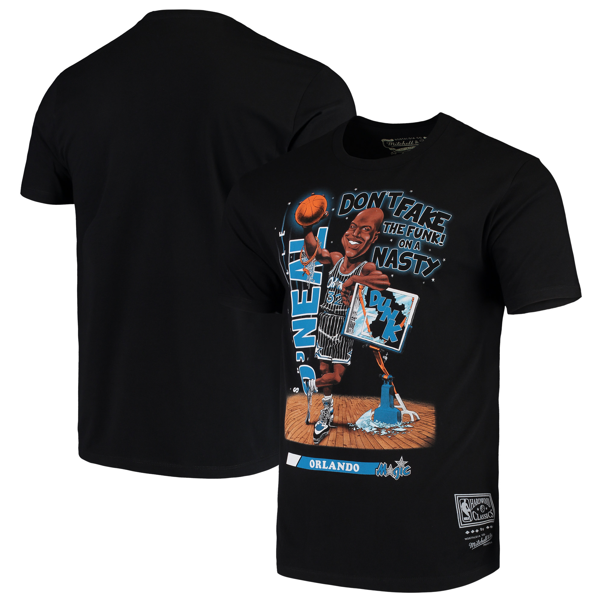 Shaquille O'Neal Orlando Magic Mitchell & Ness Salem Classic T-Shirt - Black