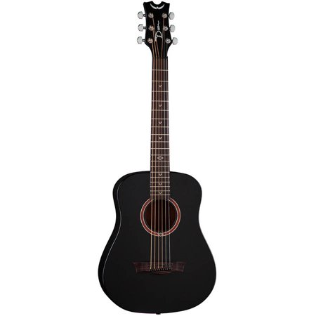 Dean Flight Mahogany Travel Guitar w/ Gigbag - Black Satin