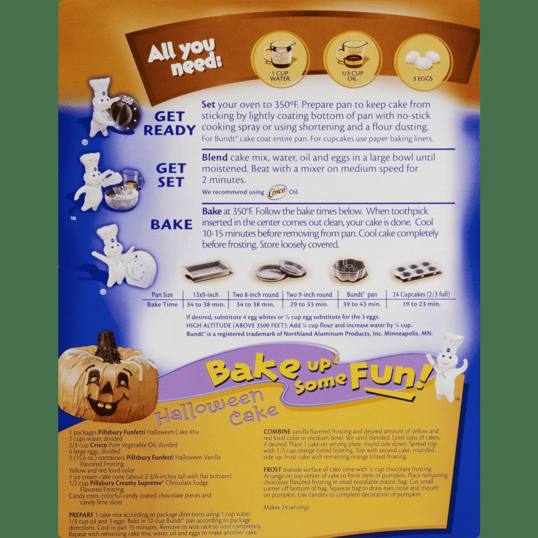pillsbury halloween funfetti cake mix 1525 oz walmartcom