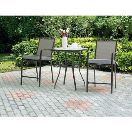 Mainstays Oakmont Meadows 3-Piece High Outdoor Bistro Set ()