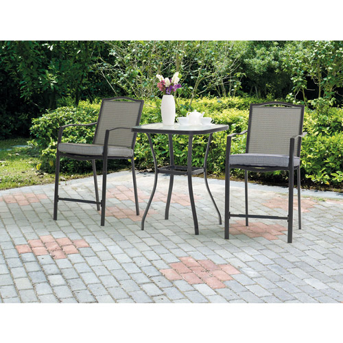 Mainstays Oakmont Meadows 3-Piece Patio Bistro Set, Seats 2