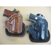 Azula All Leather Molded Paddle Holster CCW OWB for Glock 17, 22 Pistol TAN RH