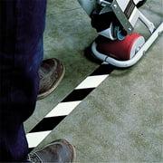 Tape Logic T93363PKBW 3 in. x 36 yards Black & White Striped Vinyl Safety Tape - Pack of 3