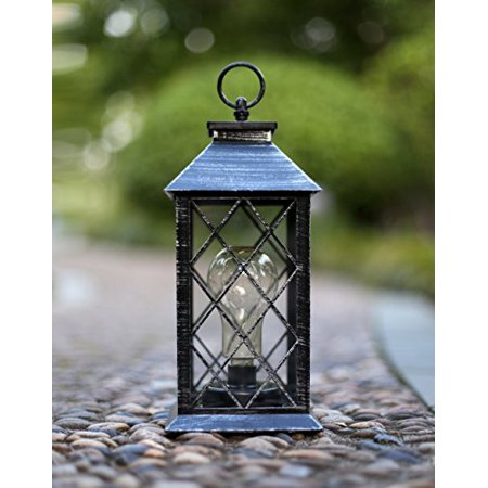 Yacool Decorative Garden Lantern Vintage Style Hanging Lanterns Outdoor Lighting Light Battery Operated 5 Hour Timer 12 009