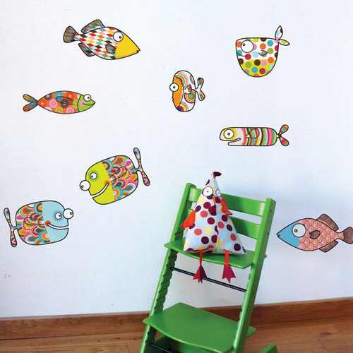 ADZif Ludo Big Fishes Wall Sticker