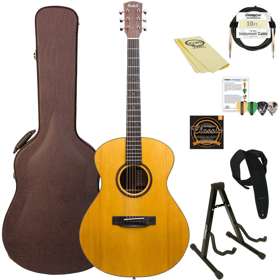 Bedell Guitars Coffee House Series Orchestra Acoustic-Electric Guitar with ChromaCast Accessories, Natural Finish