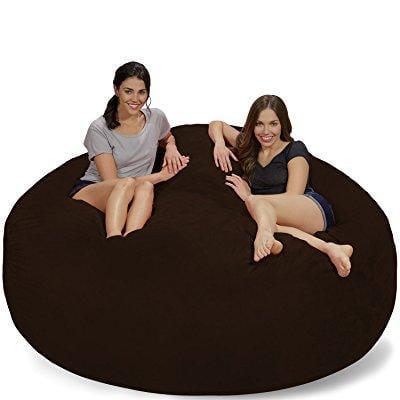 Chill Sack Bean Bag Chair: Giant 7' Memory Foam Furniture Bean Bag - Big  Sofa with Soft Micro Fiber Cover - Chocolate Micro Suede