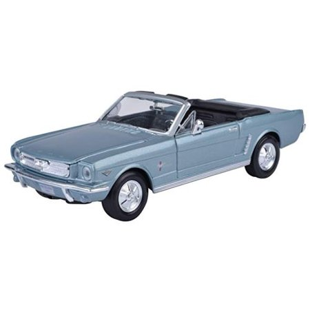 Blue 1964 1/2 Ford Mustang Convertible 1:24 Scale Die Cast Car 1964 1/2 Mustang Convertible