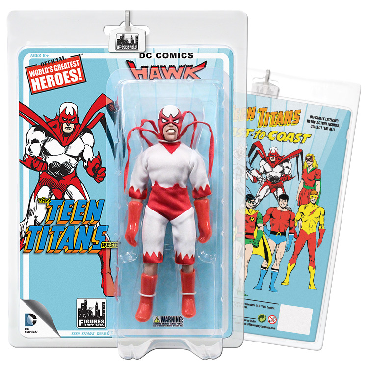 Teen Titans Retro 7 Inch Action Figures Series Two: Hawk by